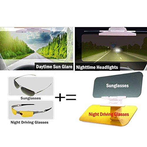 Auto UV Visione di Guida Specchio UV Fold Flip Down HD Clear View Sun Visor Regard L Auto anabbagliante Dazzling Goggle Giorno Notte Parasole