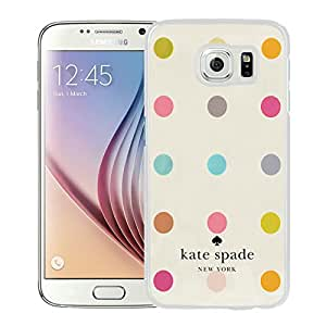 Kate Spade 15 White Samsung Galaxy S6 Screen Cellphone Case Fashion and Unique Style