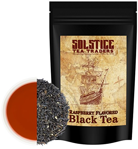 Raspberry Flavored Loose Leaf Black Tea (8-Ounce Bulk Bag), Makes 100+ Cups of Fruit (Loose Flavored Black Tea)