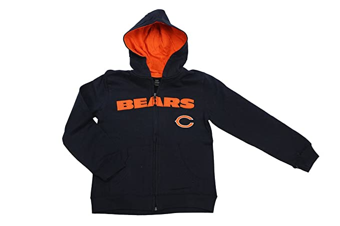 a562cf29 ... hot outerstuff team apparel youth boys embroidered chicago bears hooded  sweat jacket 803e5 30496