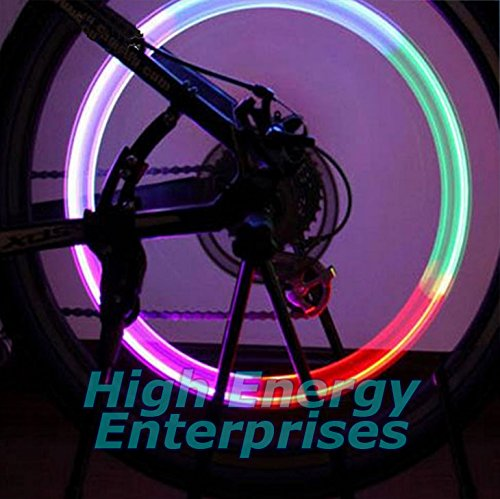 2-Pack Cars Waterproof LED Multi-Color Wheel Lights - Fits on Any tire with an Inner Tube: Bikes Trucks /& Motorcycles Automatic L.E.D.s High Energy Enterprises USA Safety Visibility