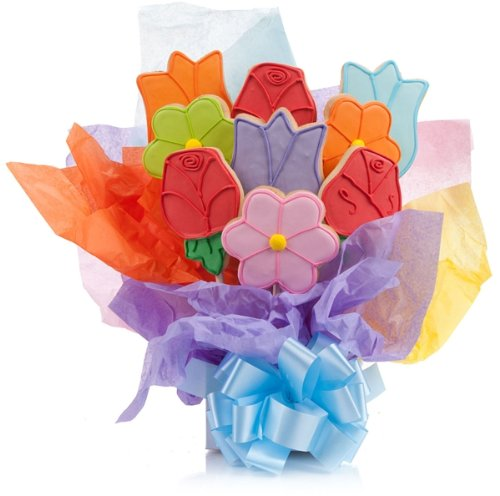Mother's Day Cookie Bouquets (Lovely Flowers, Set of 7)