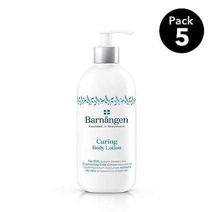 Barnängen Loción Hidratante corporal con leche de Avena Caring - 5 uds de 400ml (Total