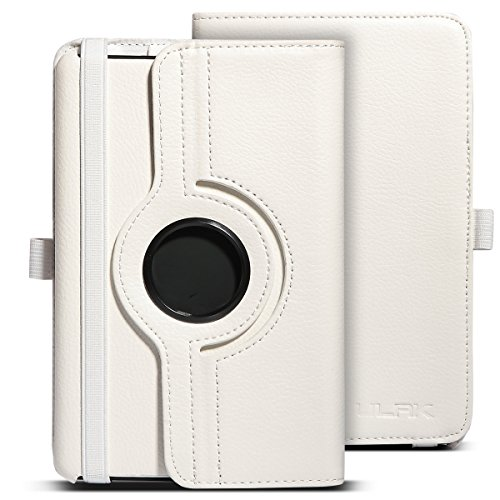 ULAK Amazon Kindle Fire Case, 360 Rotating PU Leather Mul...