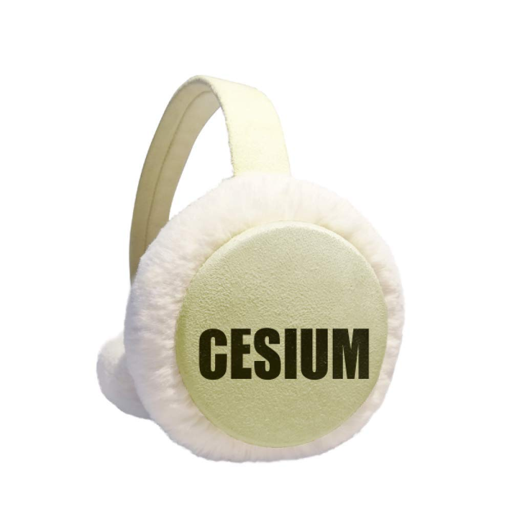 Cesium Element Name Chemistry Winter Warm Ear Muffs Faux Fur Ear