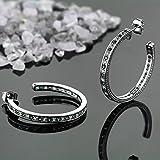 150-inch-925-Sterling-Silver-Green-Nano-Emerald-White-Created-Sapphire-Womens-Hoop-Earrings