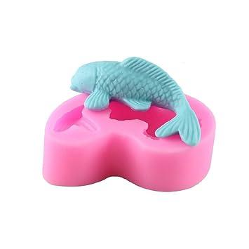 Molde de silicona en 3D con forma de pez Emore, para tortas de fondant, pastelería hogareña, herramientas para escultura y moldeado: Amazon.es: Hogar