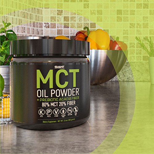 MCT Oil Powder with Prebiotic Acacia Fiber - 100% Pure Medium Chain Triglycerides - Designed for Ketogenic Diet to Control Appetite, Boost Ketone Production and Clean Energy. 30 Servings - Unflavored by Giant Sports (Image #5)