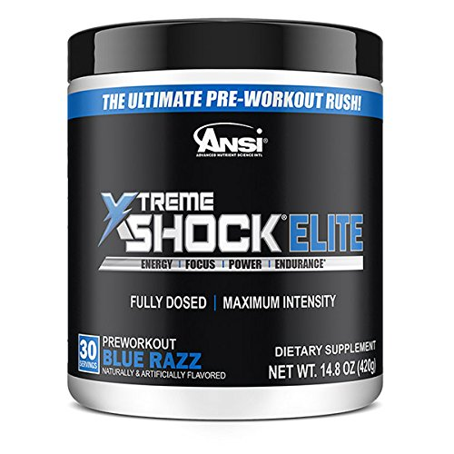 Ansi N.o. Xtreme Shock Powder, Blue Raspberry, 450 ()