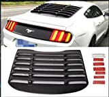 Automotive : V8 GOD ABS Rear Window Louvers in Matte Black for 2015 2016 2017 Ford Mustang