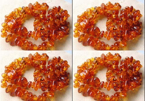 5 Rich Natural Baltic Amber Nugget Beads for Jewelry Making ()