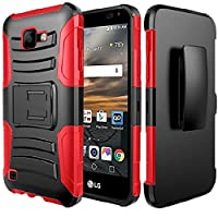 HR Wireless Holster - Kickstand for LG K3 2017 - Black +Red