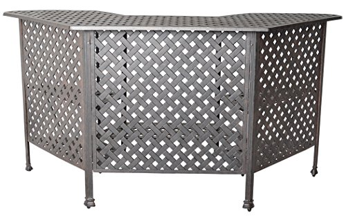 - K&B PATIO LD1031W Nassau Bar Table, Antique Bronze
