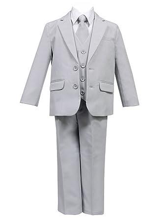 b9fd742d3d Amazon.com: Calla Collection USA Little Boys Light Gray 5 Pcs Shirt ...