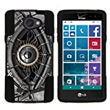 TurtleArmor | LG Lancet Case | VW820 | VS820 [Gel Max] Impact Proof Cover Hard Kickstand Hybrid Shell Shock Silicone Robot Android Design - Cyborg Eye