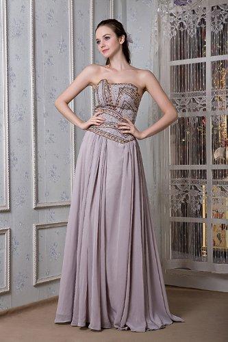 Lange Elegante Grau Abendkleid Chiffon Neu Friesen GEORGE Liebsten BRIDE PBx4pp