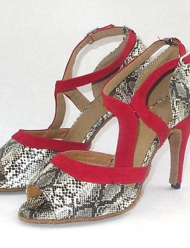 Danse De Pour Femmes Sandales Shangyi Latin Imprimes Argentes Chaussures FUxZqwBE