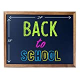 Cedar Markers 24'x18' Chalkboard with Wood Frame. 100% Non-Porous Erasable Blackboard and Whiteboard for Liquid Chalk Markers. Magnet Board Chalk Board (24x18)