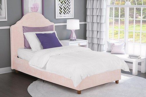 DHP Savannah Upholstered Bed, Twin, Pink