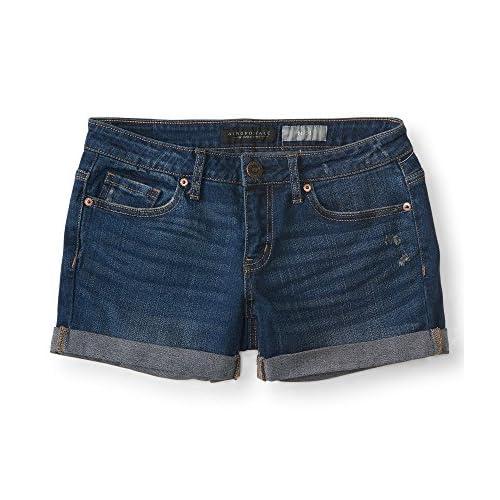 Aeropostale Medium Wash Cuffed Denim Midi Shorts Blue for cheap