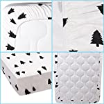 Kyapoo-Fitted-Crib-Sheets-100-Cotton-Christmas-Tree-Unisex-Bedding-Style-for-Standard-Crib-and-Toddler-Mattress-Protector-Crib-Mattress-Covers-52×28