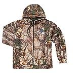 NFL Tampa Bay Buccaneers Adult Trophy Realtree Xtra Polyester Tech Fleece Full Zip Hoodie, Large, Camo