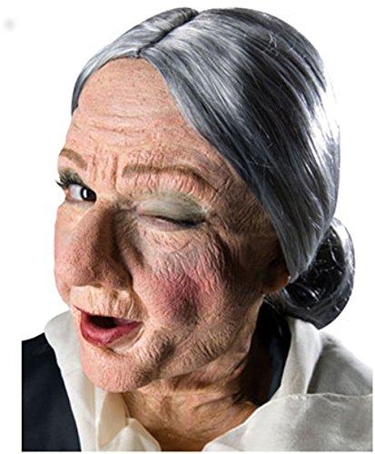 [Reel F/X Granny Prosthetic] (Prosthetic Old Woman Mask)