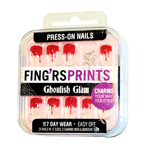FING'RSPRINTS PRESS-ON NAILS BLOODY MARY - Press On Nails Skull