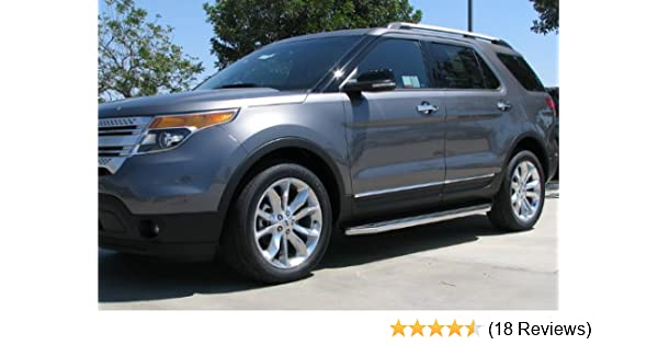 Custom Ford Explorer >> Maxmate Custom Fit 2011 2018 Ford Explorer 72 Side Step Running Boards Nerf Bars Drilling Required Pinch Weld