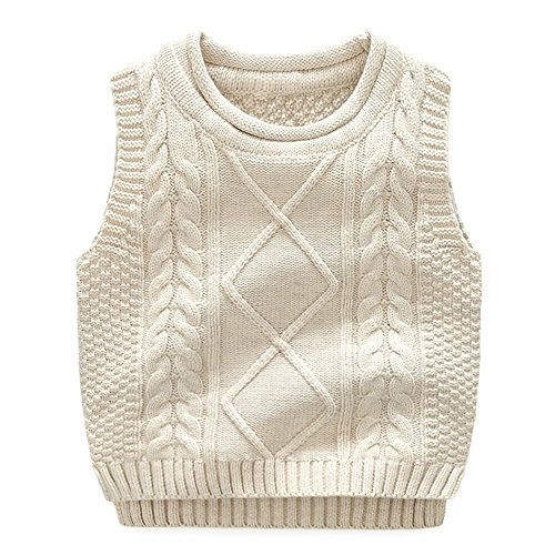 Anbaby Little Boys Knit Sweater Vest Kids Round Neck Students Pullover