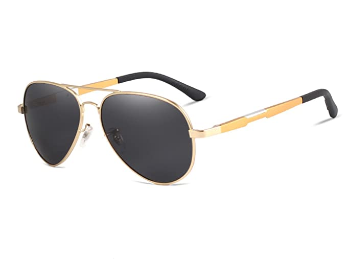 DLuxoMode Gafas de sol piloto aviador polarizadas, gafas ...