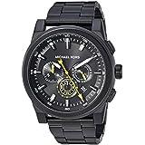 Michael Kors Men's 'Grayson' Quartz Stainless Steel Casual Watch, Color:Black (Model: MK8600)