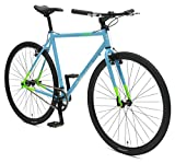 Retrospec Bicycles AMOK V2 CycloCross Convertible Single-Speed/Commuter Bike with Chromoly Frame, Hi-Vis Blue, 50cm/Small