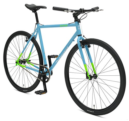- Retrospec Bicycles AMOK V2 CycloCross Convertible Single-Speed/Commuter Bike with Chromoly Frame, Hi-Vis Blue, 60cm/X-Large