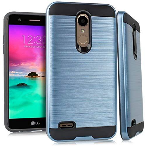 Metallic Hybrid Cover for LG Premier Pro LTE L414DL / LM-L414DL (Navy Blue & - Lte Lg Access Case Metallic