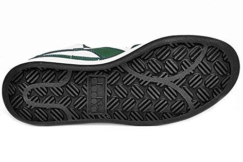 Diadora Mi Basket - Zapatillas abotinadas Unisex adulto Bianco/Fogliame