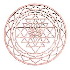 HOW IS OUR WALL ART DIFFERENT? Our symbol is thicker and made with higher quality wood. MEANINGS: This Sri Yantra is a mystical diagram, sacred geometric art, and a symbol of divine balance.Studied by sages for millennia, this image is belie...