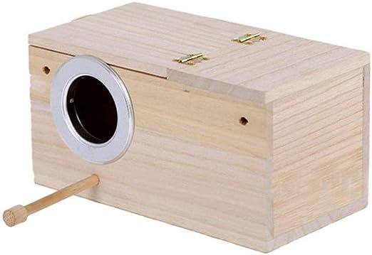 Casas para Pájaros Nidos para Pájaros Práctico para Pájaros Pequeños Pinzones De Periquitos Caja De Cría