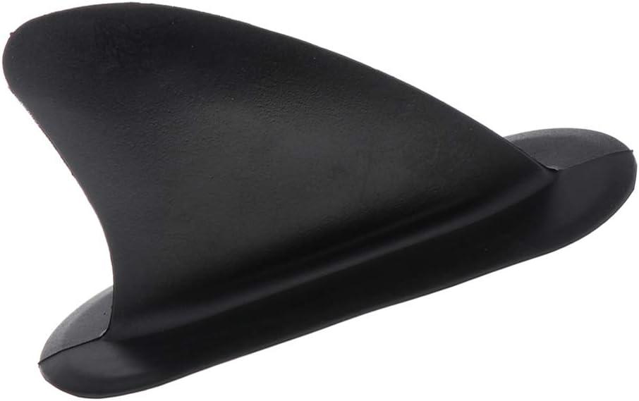 Schwarze aufblasbare Kajak Skeg Spurhaltungs Flosse Integrale Mittelflosse