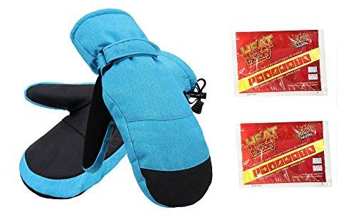 (ThunderCloud Women's 3M Alpine Ski Mittens with Handwarmer Pocket,Royal Blue,S/M)