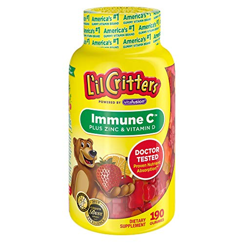 L'il Critters Immune C Plus Zinc & Vitamin D, 190Count (Packaging May Vary)