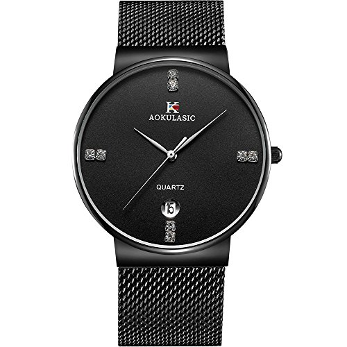 (Watch,Men's Fashion Stainless Classic Casual Watch With Milanese Mesh Band,Waterproof Casual Analog Quartz Dress Wrist Watch)
