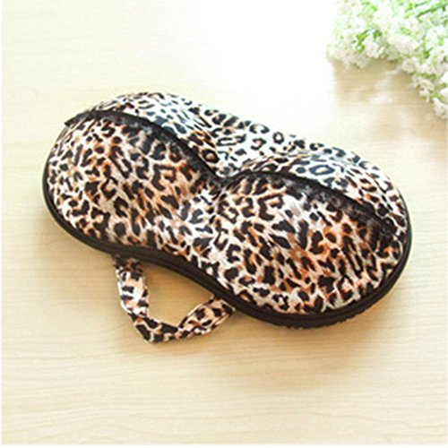 Container Underwear Case Travel Portable Storage Bag Box Protect Bra Organizer-Leopard