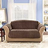 Sure Fit Quilted Velvet Deluxe Sofa Pet Throw, Chocolate