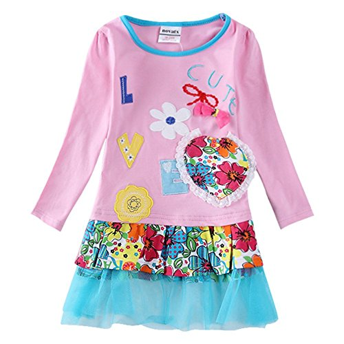 The Most Popular Girls In School Costume (Novatx Long Sleeve Princess Cotton Baby Girl Clothes H5616 Pink (18/24m))