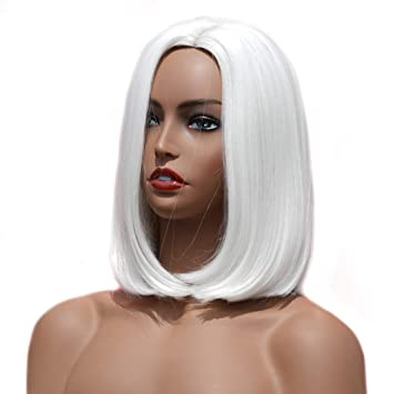 Amazon.com: Peluca corta de pelo sintético para mujer ...