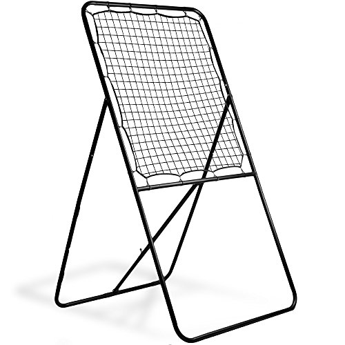 Crown Sporting Goods Multi-Position Lacrosse Rebounder Wall, Extra-Wide Steel Frame Backstop with Nylon Netting - Practice Passing, Shooting, Catching, Reacting (Best Lacrosse Goalie Cleats)