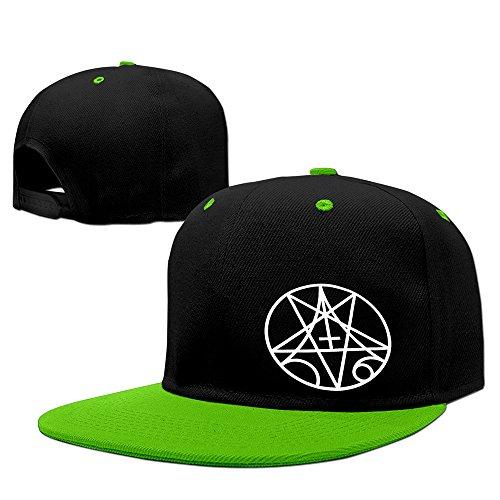 ALLHA Morbid Angel Old Logo Metal Band Sports Snapback Hats Unisex Cap KellyGreen
