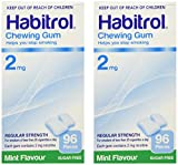 Habitrol Nicotine Gum 2 Boxes 2mg Mint 192 Pieces