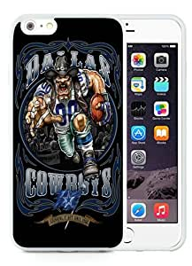 High Quality iPhone 6 Plus 5.5 Inch TPU Case ,Cool And Fantastic Designed Case With Dallas Cowboys 01 White iPhone 6 Plus Cover